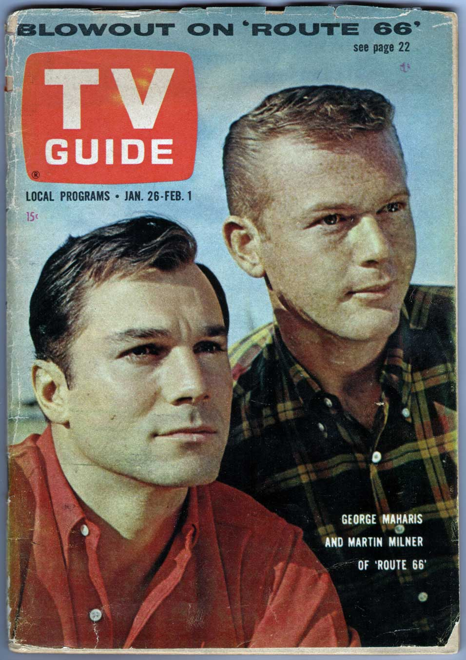 route 66 - tv guide - january 26, 1963